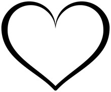 Simple Heart Outline Icon. Vec...