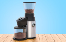 Electric Coffee Grinder On The...