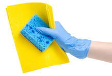 Hand In Cleaning Glove With Ye...