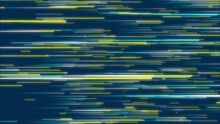 Yellow, Green & Blue Abstract Radial Lines Geometric Background. Data Flow. Optical Fiber. Explosion Star. Motion Effect. Background
