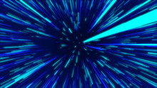 Blue Abstract Radial Lines Geometric Background. Data Flow Tunnel. Explosion Star. Motion Effect. Background