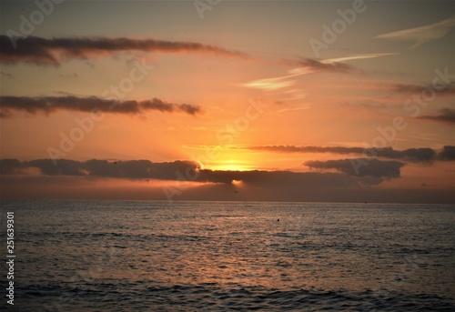 Foto  amanecer playa