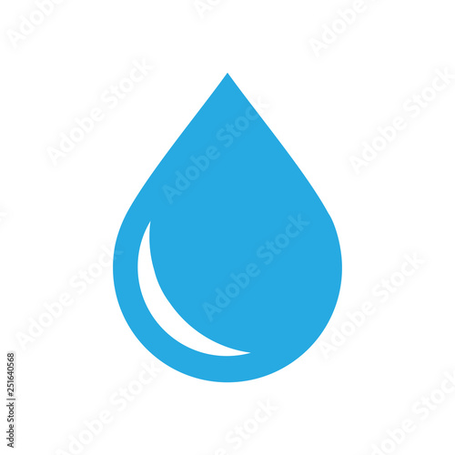 Fényképezés  Drop water icon on white background for graphic and web design, Modern simple vector sign