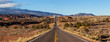 Scenic road in the desert during a vibrant sunny sunrise. Taken on Route 24 near Torrey, Utah, United States of America.