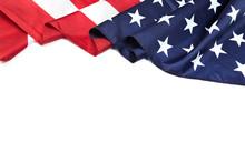American Flag Border Isolated On White - Image.