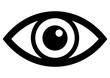 canvas print picture - gz335 GrafikZeichnung - german - Auge: - english - eye: - simple template - DIN A4 - g7261