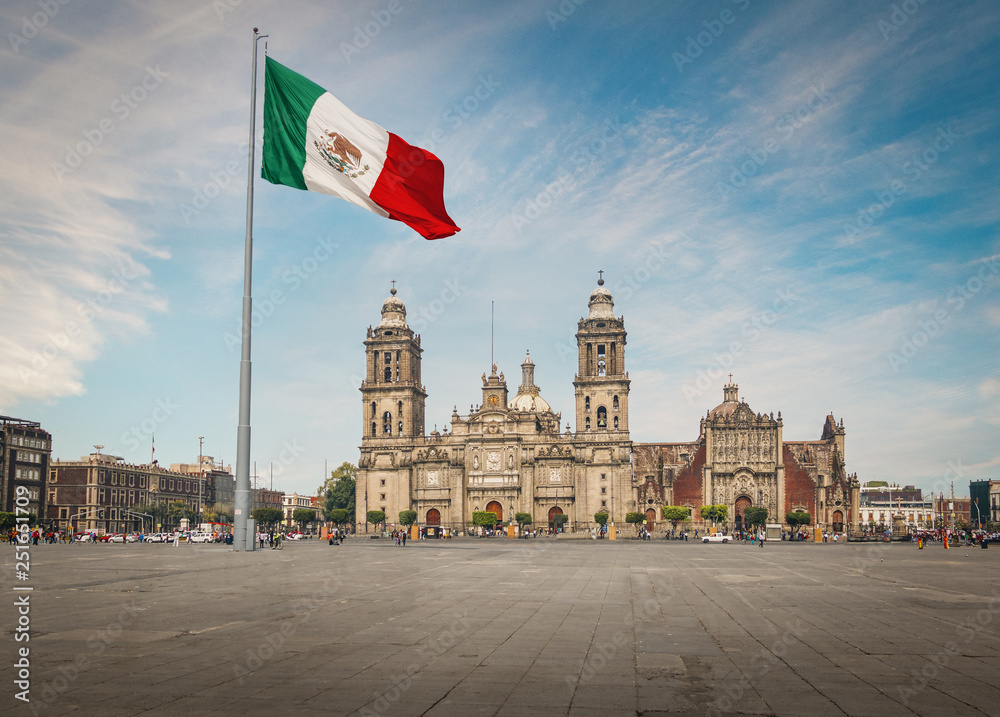 Fototapety, obrazy: Zocalo Square and Mexico City Cathedral - Mexico City, Mexico