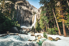Lower Yosemite Falls At Winter...