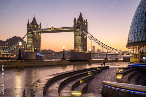 London cityscape with Tower Bridge Wallpaper Mural