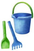 Baby Toy Plastic Bucket And Sa...
