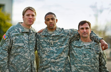 Portrait Of Three US Army Sold...