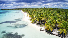 Aerial Of A Wonderful Exotic Tropical Caribbean Beach, Saona, Dominican Republic