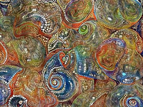 Mosaic Seashells Canvas Print