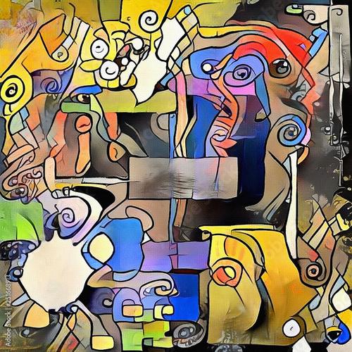 Naklejki abstrakcyjne  exercises-for-imagination