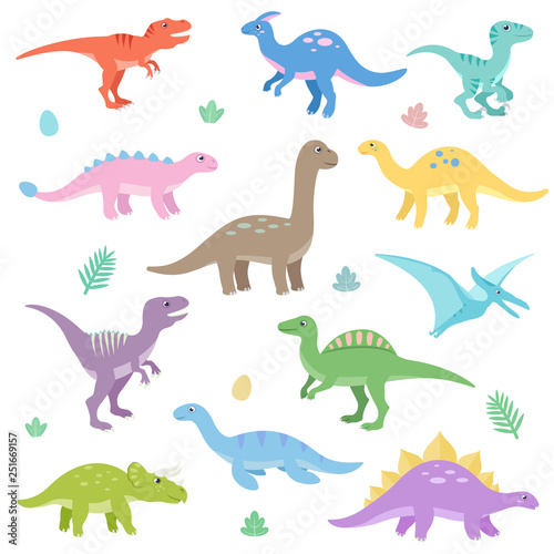 Cute dinosaurs set Wallpaper Mural