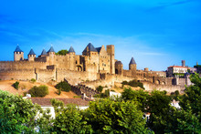 Old Fortress Of Carcassone. Fr...