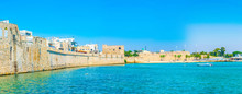 Medieval Wall Protecting Acre/Akko From The Mediterranean Sea In Israel
