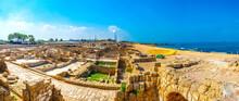 Coastline Of Ancient Caesarea In Israel
