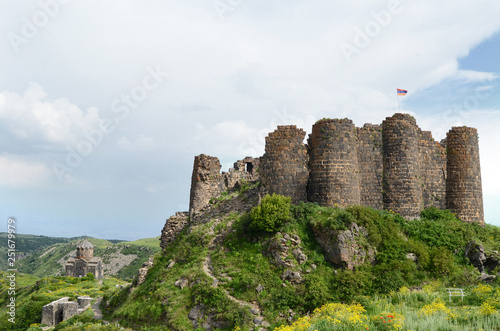 Amberd fortress ruins in Armenia Canvas Print