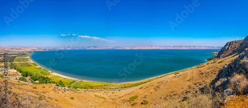 Valokuvatapetti Sea of Galilee viewed from mount Arbel in Israel