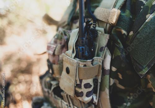 Photo  Radio equipment for Airsoft military game.