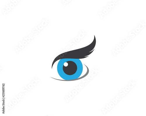 Photo Stands Owls cartoon Eye icon illustration