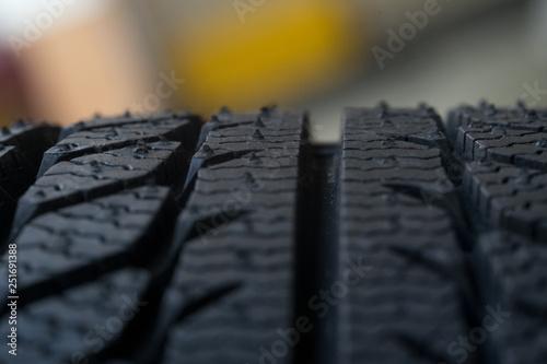 Fotografia, Obraz  tire tyre profile close up