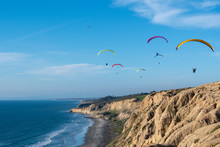 Paragliders In The Sky