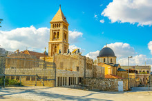Cityspace Of Jerusalem With Churches Of The Redeemer And Holy Sepulchre, Israel