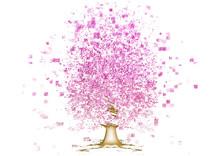 抽象的な桜の木