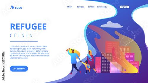 Fotografia Refugees concept landing page.