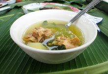 Tinola Bowl, A Chicken Soup Made With Lemongrass In The Philippines