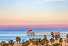 Huntington Beach Pier At Sunrise