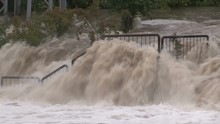Flash Flood After Severe Thunderstorms And Heavy Rain In Cambridge Canada