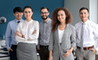 Team of young business people in office