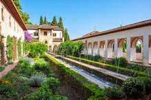 Generalife Gardens At Alhambra, Granada, Spain