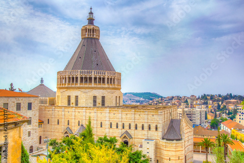 Foto Basilica of the annunciation in Nazareth, Israel