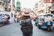 Leinwandbild Motiv Female tourist in Bangkok