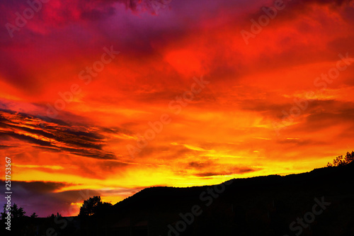 Garden Poster Red New Mexico Sunset