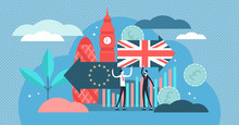 Brexit Vector Illustration. Ti...