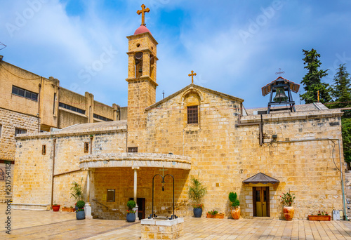 Fotografie, Obraz Greek orthodox church of the annunciation in Nazareth, Israel