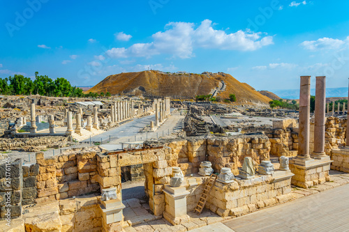 Beit Shean roman ruins in Israel Canvas Print