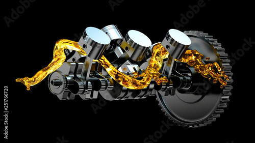 3d illustration of engine Wallpaper Mural