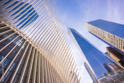 фотография Perspective from below the One World Trade Center in New York
