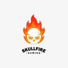 Fire Skull Design Illustration...