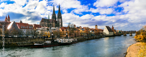 Travel in Germany - beautiful Regensburg town in Bavaria