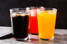 Colorful Soft Drinks For Summe...
