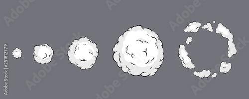 Photo Smoke explosion animation