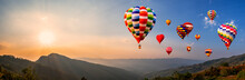 Colorful Hot Air Balloon Fly O...