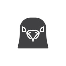 Pigeon Head Vector Icon. Filled Flat Sign For Mobile Concept And Web Design. Dove Bird Glyph Icon. Bird Symbol, Logo Illustration. Pixel Perfect Vector Graphics